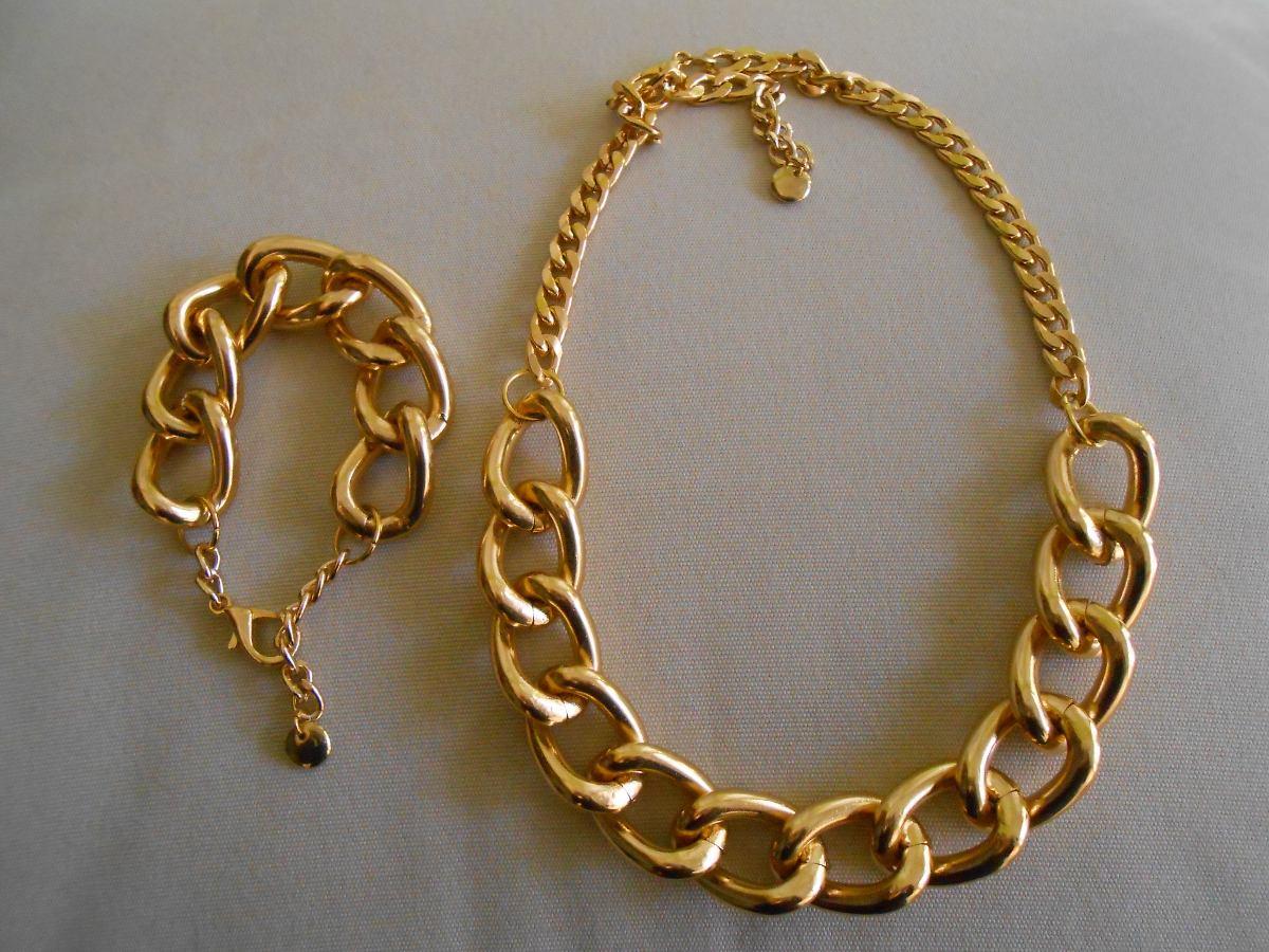 Collares dorados cadenas