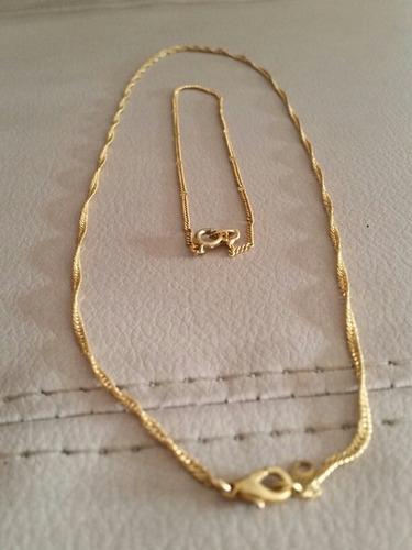 collar y pulsera en baño de oro 18k a mitad de precio