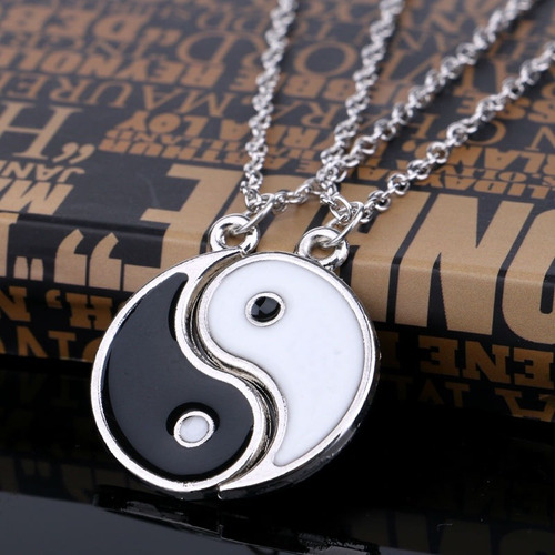 collar ying yin yang novios pareja enamorados envío incluido