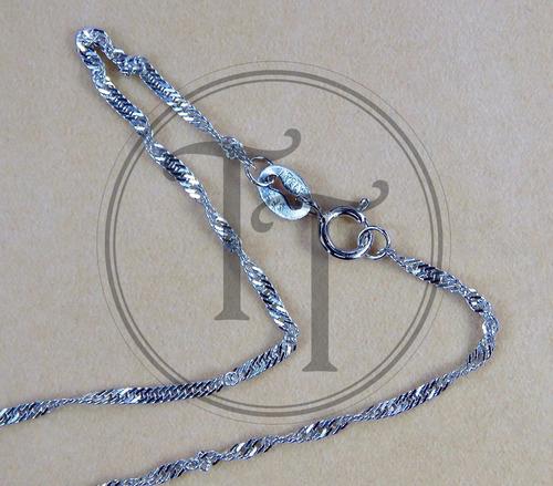 collar zafiro plata