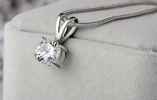 collar zirconias cadena joyas