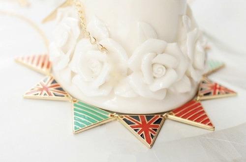collar/cadena dije banderín británica uk retro/vintage.ofert