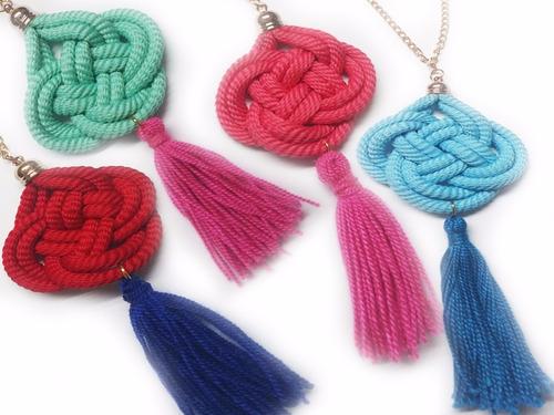 collares accesorios mayoristas de bisutería tejidos y cuero