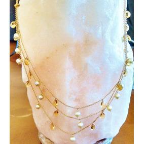 bfb86735e172 Collar De Tres Hilos Perlas Azules - Joyería en Mercado Libre México