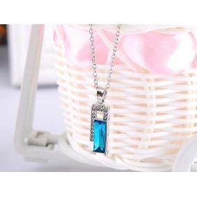 2aa0ff6ccf85 Collar Cristal Cubico Austriaco Brillante Azul Envío Exprés