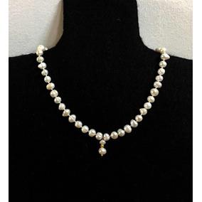 f49f92babf61 Collar Perlas Naturales Oro - Joyas y Relojes en Mercado Libre México