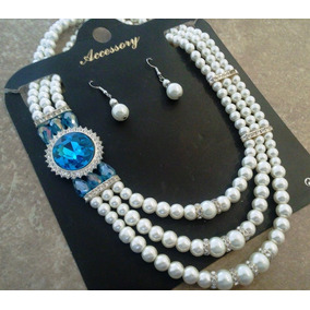 237477b42a87 Maxi Collar Perlas en Mercado Libre México