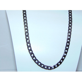 4c12a5a76776f Cadena 60cm Diamantada 5mm Chapa Oro Collar Hip Hop Tennis. 3. 67 vendidos  - Nayarit · Cadena Negra Cubana 60 Cm X 7mm + Envío Acero