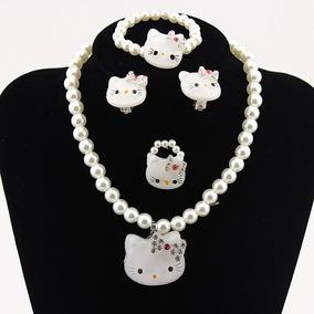 0160d61945ed Hello Kitty Conjunto Joyería Collar Pulsera T177g - Joyas y Relojes ...