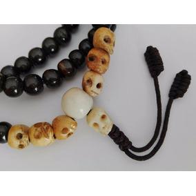 64dea0008b81 Rosario Budista (mala) Con Cuentas Y Cráneos De Hueso De Yak