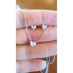 178a2bfeb54c Collar Diamante Solitario Corazón .50ct 41cm Oro Blanco 14k