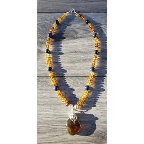 0918687caad0 Collar De Piedra Natural De Chiapas Y Lapis Lazuli Natural