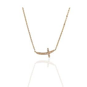 d425144d3829 Gargantilla Oro Rosa 14 K Con 18 Diamantes Naturales 0.3 Ct