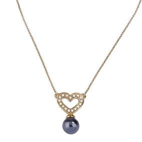 dc53015cd21e Collar Corazones Separados Oro Perlas - Collares y Cadenas Oro en ...