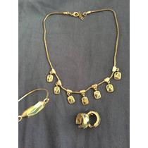 Conjunto Collar Pulsera Y Aretes Plata Y Piedras Guess