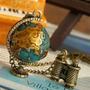 Cadena Collar Vintaje Con Bonito Dije De Planeta Detalles