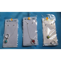 Lindos Set De Collar, Arete Y Anillo Made In China