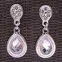 Aretes Pendientes Realeza Esika Plata Brillante Cristales