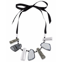 Kenneth Cole New York Collar Color Plomo Con Plateado