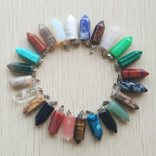 collares cuarzo joyeria piedra natural bisuteria pequeño 2x1