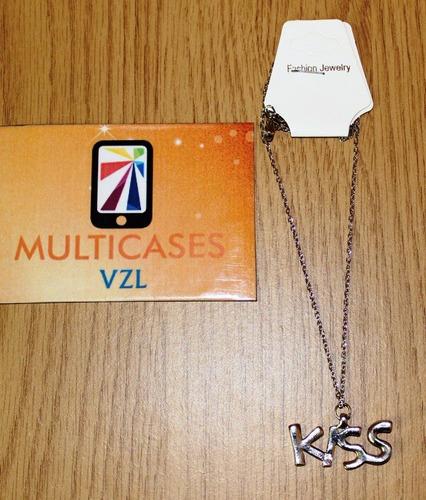 collares de palabras love & kiss bisutería de moda oferta mv