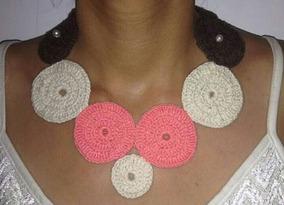 Collar Tejido Crochet Joyería Y Bisutería Collares En Mercado
