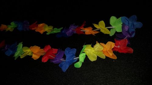 collares hawaianos importado de flores horaloca empaq de 12