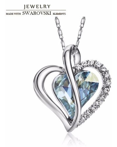 collares joyeria swarovski elements original corazon +envio