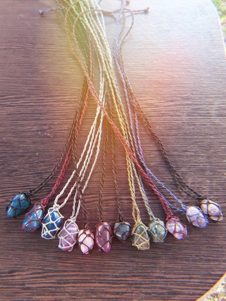 venta caliente online 2272d afdfd Collares Macrame Piedras Naturales Semipreciosas