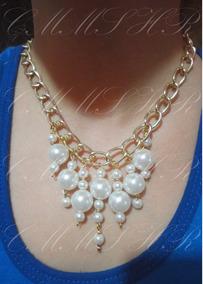 9cec372ce5b0 Hermoso Collar De Perlas Color Melon - Collares y Cadenas Oro en ...