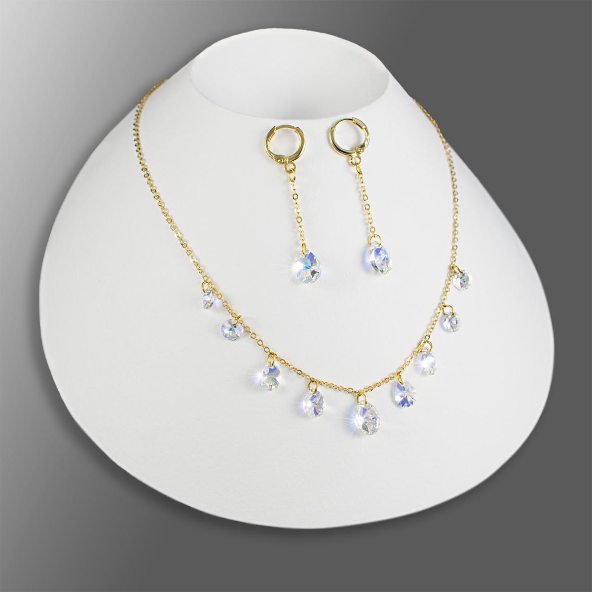 42f043a635db collares mujer aretes pulsera cristal swarovski cadena oro g. Cargando zoom.