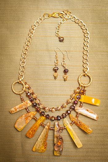 23e8a2929930 Collares Mujer Piedras Semipreciosas Agata Amarilla Joyas ...