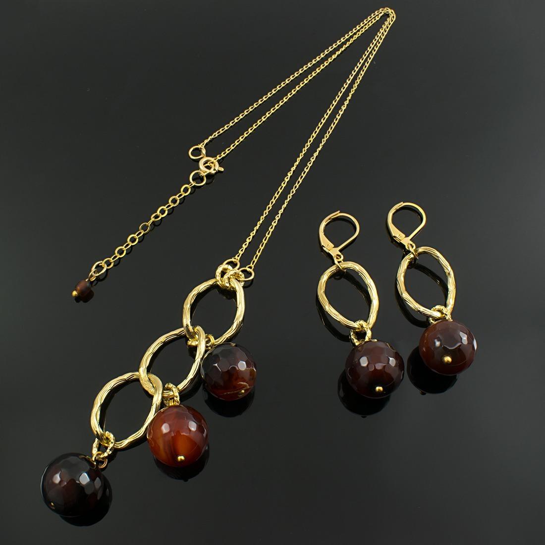 b0c3112117c5 collares mujer piedras semipreciosas agata baño oro joyas. Cargando zoom.