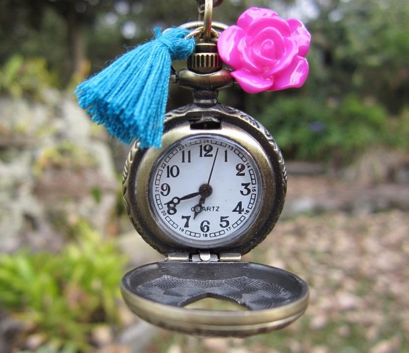 ec7a32ec9145 collares mujer reloj vintage tipo relicario joyas de moda. Cargando zoom.