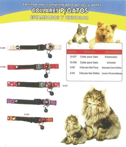 collares para gatos estampados y unicolor. (solo al mayor)