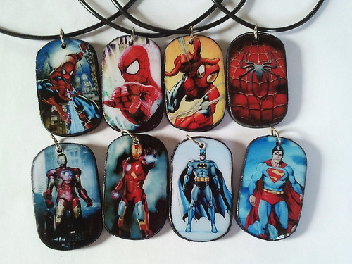 collares para niños,ironman. hulk, capitan america, bat
