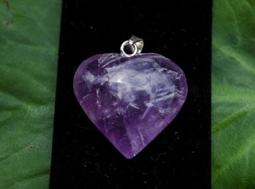 collares plata corazon de cuarzo cristal amatista jade rosa