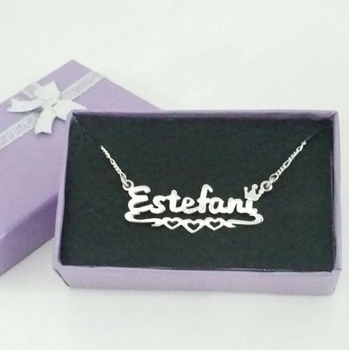 collares pulseras dije y cadena con nombre plata 950 kynaira