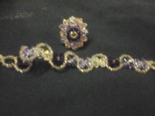 collares , pulseras, y anillos de cristales de swarovski,