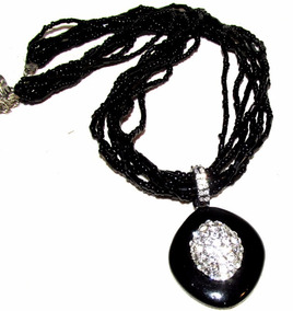 a609fafc1dcc Collar Dama En Canutillos Negro Accesorios Mujer Para Cuello ...