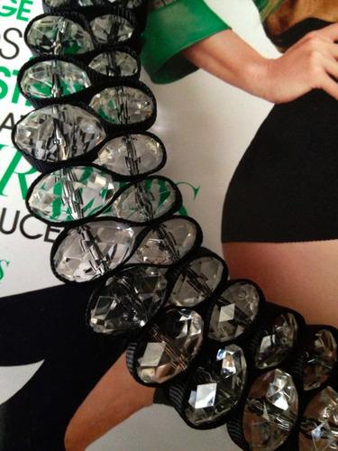 collar/gargantilla/choker cristal acrílico elegante trendy.