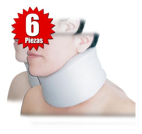 collarín cervical adulto alto blanco (6 piezas)