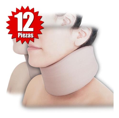 collarín cervical adulto bajo beige (12 piezas)