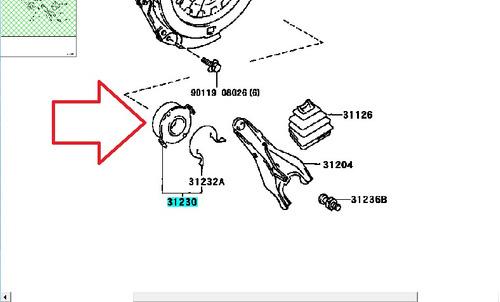 collarin desembrague corolla baby camry 94 98 org 3123012171