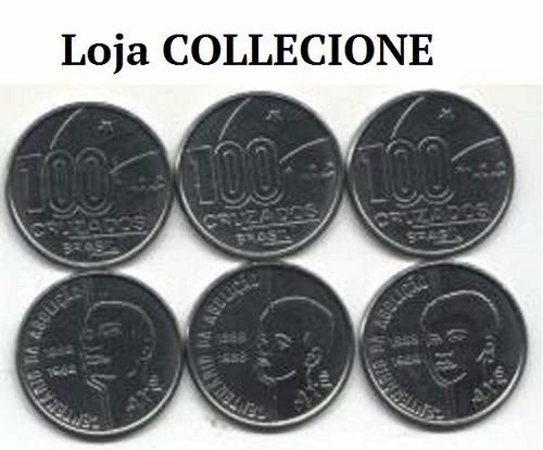collecione - moedas série axé pai mãe e filho 1988 100 cruz.