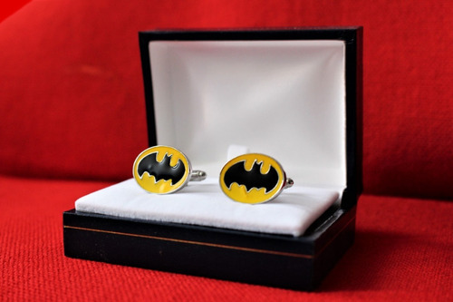 colleras (gemelos) batman 100% acero