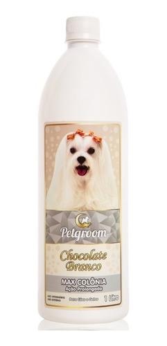 colônia chocolate branco 1 litro - cães e gatos petgroom