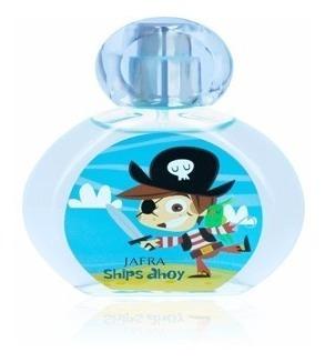 colônia infantil jafra ships ahoy - captain's sea 50ml