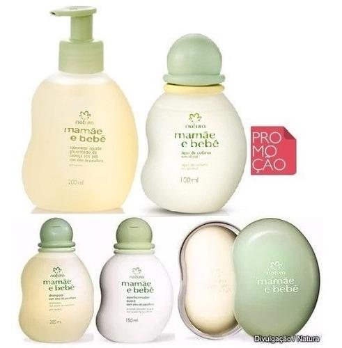 colônia shampoo condicionador sabonete mamãe bebê natura