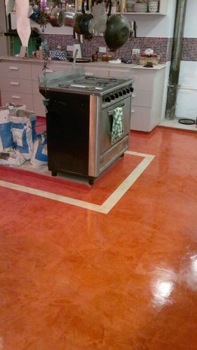 colocación cemento alisado micropisos microcemento pisos